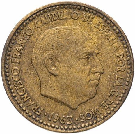 купить Испания 1 песета (peseta) 1963