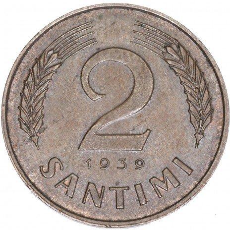 купить Латвия 2 сантима 1939