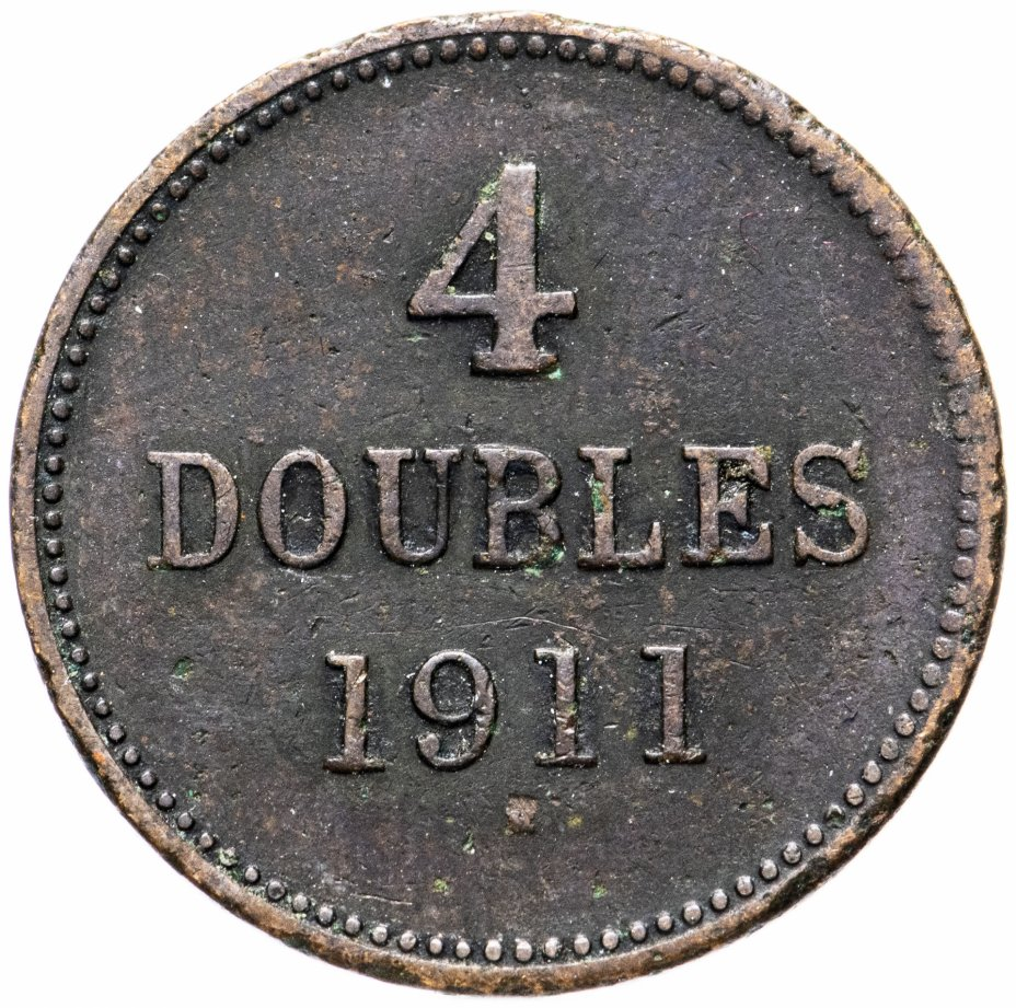 купить Гернси 4 дубля (doubles) 1911
