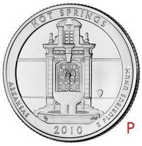 купить США 25 центов (квотер) 2010 P — Национальный парк Хот-Спрингс