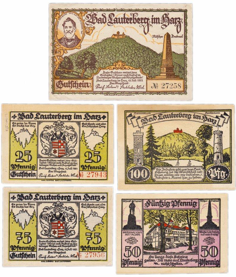 купить Германия (Ганновер: Бад-Лаутерберг) набор из 5 нотгельдов 1921