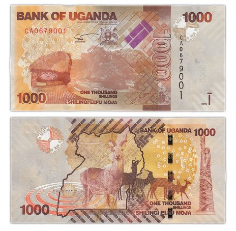 купить Уганда 1000 шиллингов 2015 (Pick 49d)
