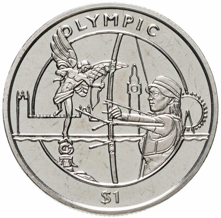 купить Сьерра-Леоне 1 доллар 2012 XXX летние Олимпийские Игры, Лондон 2012 - Стрельба из лука