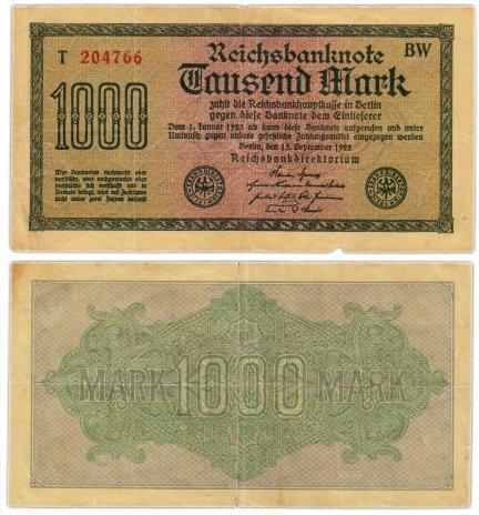 купить Германия 1000 марок 1922 (Pick 76d)