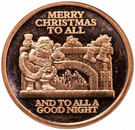 купить США Унция Меди проба 999  Новый Год - Санта Клаус, Счастливого Рождества