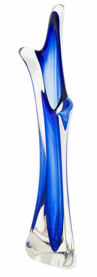 купить Ваза для цветов необычной формы из двуслойного стекла, Чехия, 1980-2000 гг.