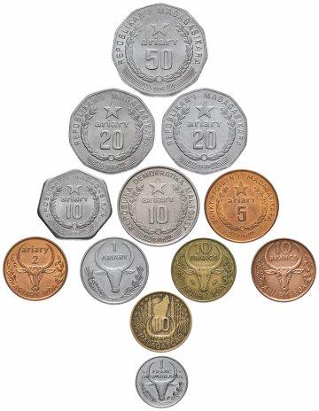 купить Мадагаскар набор из 12 монет 1953-2004