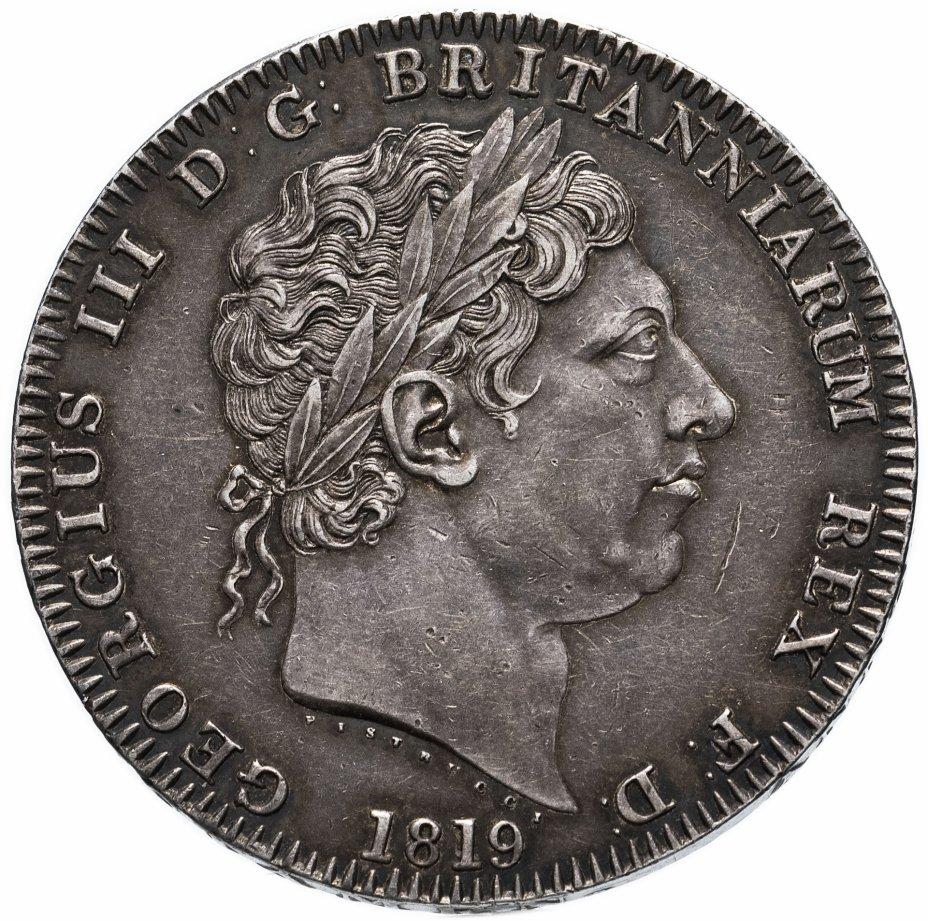 купить Великобритания 1 крона 1819 Георг III