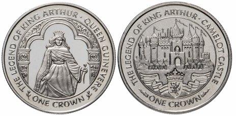 """купить Остров Мэн набор из 2-х монет 1 крона 1996 """"Легенды о Короле Артуре"""""""