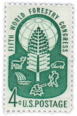 """купить США 4 цента 1960 """"Всемирный лесной конгресс"""""""