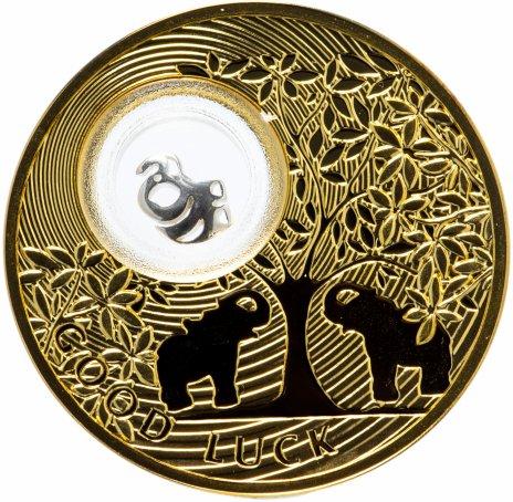 """купить Ниуэ 2 доллара (dollars) 2013 """"Монеты на счастье - Слон"""" в буклете"""