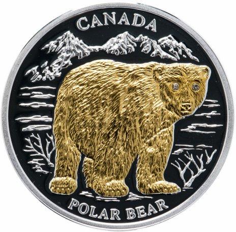 """купить Либерия 10 долларов 2004 """"Вымирающие виды животных - Полярный медведь"""""""