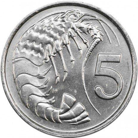 купить Каймановы острова 5 центов 1982