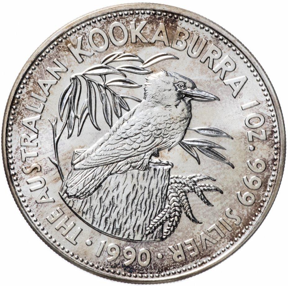 """купить Австралия 5 долларов 1990 """"Австралийская Кукабарра"""""""
