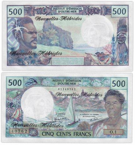 купить Новые Гебриды 500 франков 1979 (Pick 19с) подпись 3А
