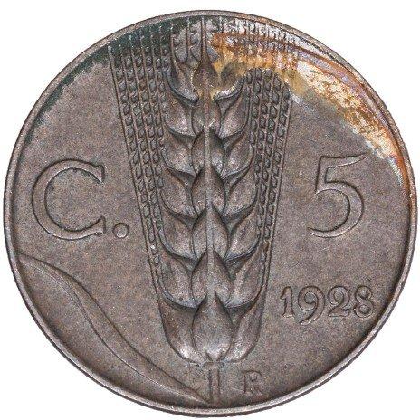 купить Италия 5 чентезимо 1928