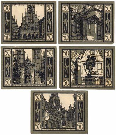 купить Германия (Вестфалия: Мюнстер) набор из 5 нотгельдов 1921 (916.1/В1)