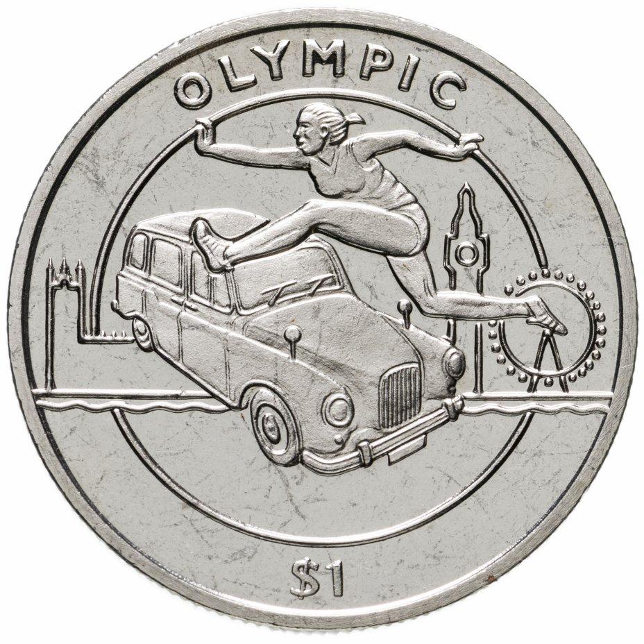 купить Сьерра-Леоне 1 доллар 2012 XXX летние Олимпийские Игры, Лондон 2012 - Бег с барьерами