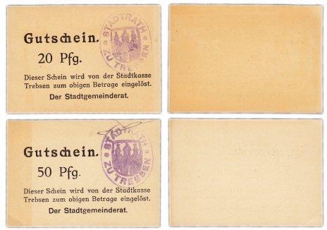 купить Германия (Саксония: Требзен) набор из 2-х нотгельдов 1919