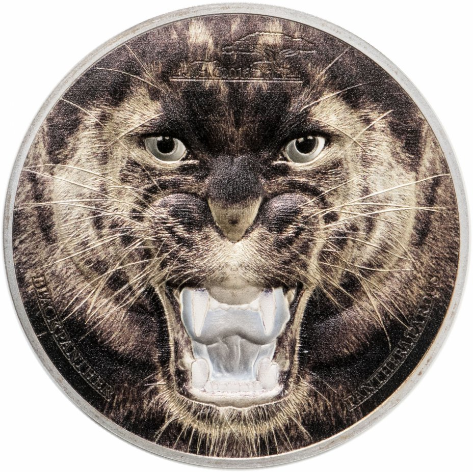 """купить Танзания 1500 шиллингов 2016 Proof """"Пантера"""" в футляре с сертификатом"""
