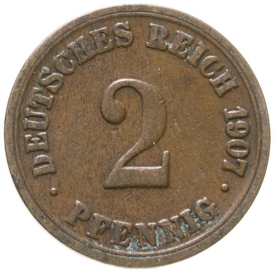 """купить Германская Империя, Пруссия 2 пфеннига 1907 """"А"""""""