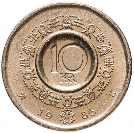 купить Норвегия 10 крон (kroner) 1986