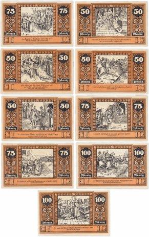 купить Германия (Бранденбург: Вильснак) набор из 9 нотгельдов 1920