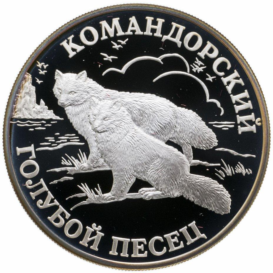 купить 1 рубль 2003 СПМД командорский голубой песец