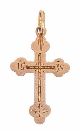 купить Крест нательный, золото 56 пр., Российская Империя, 1908-1917 гг.