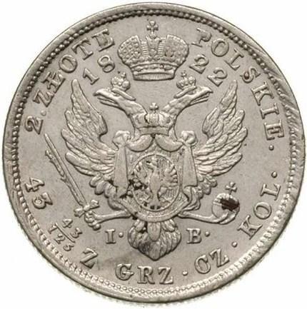 купить 1 злотый 1822 года IB