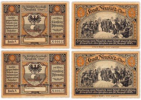 купить Германия (Силезия: Нойсальц-на-Одере) набор из 2-х нотгельдов 1921