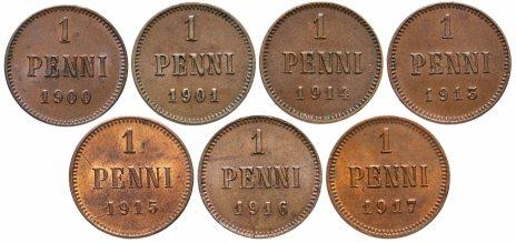 купить Набор из 7 монет 1900-1917, монеты для Финляндии