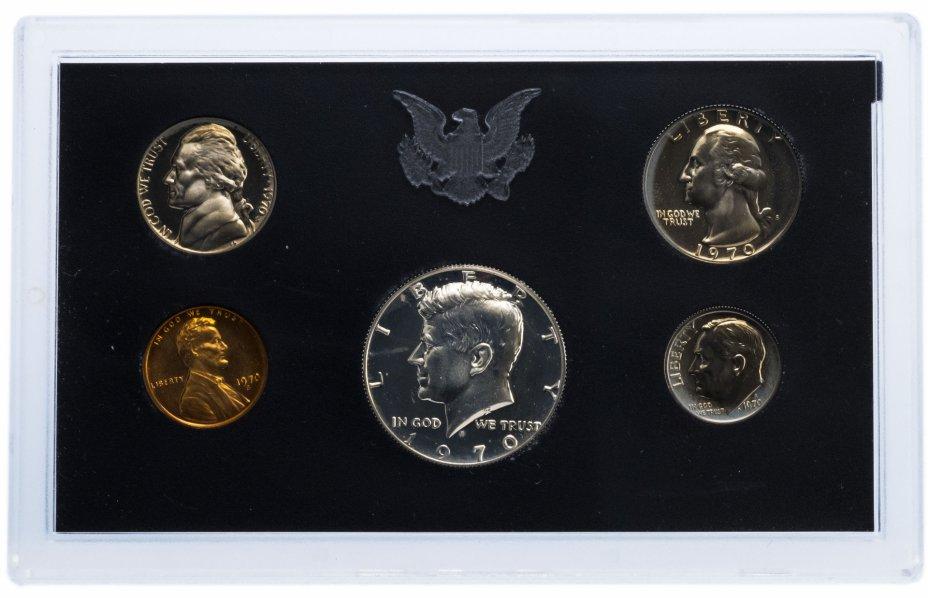 купить США Годовой набор монет 1970 Proof (5 штук) в упаковке (серебро)