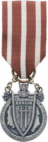 """купить Медаль """"Братство по оружию"""", томпак, серебрение, Польша, 1975 г."""