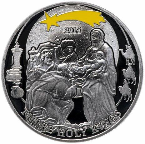 """купить Палау 2 доллара 2014 """"Библейские истории - Три царя"""", в футляре с сертификатом"""