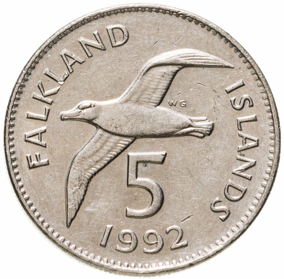 купить Фолклендские острова 5 пенсов (pence) 1992