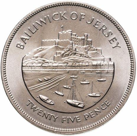 """купить Остров Джерси 25 шиллингов (shillings) 1977 """" 25 лет правления Королевы Елизаветы II"""""""