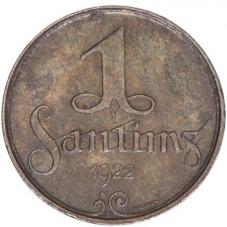 купить Латвия 1 сантим 1922