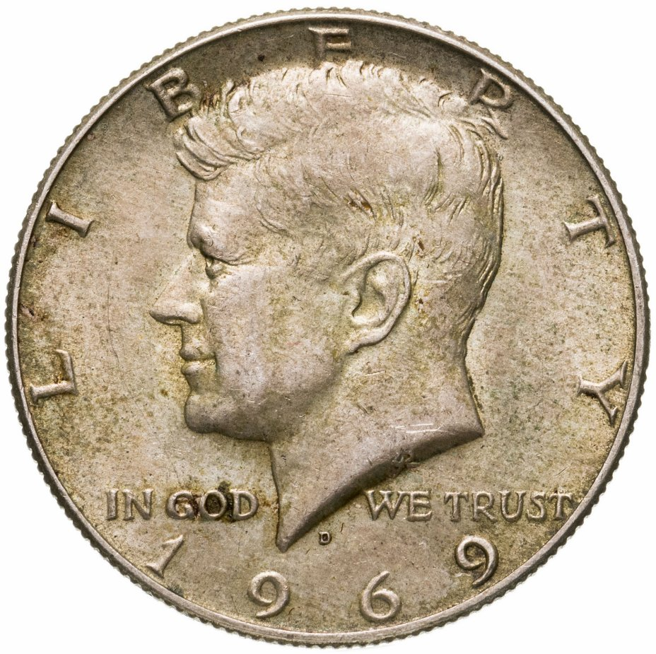 "купить США 1/2 доллара 1969 D ""Kennedy Half Dollar"""