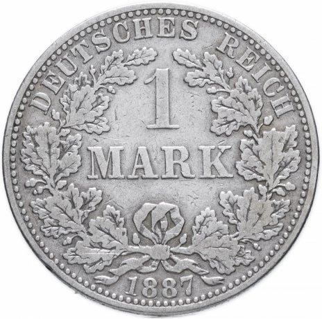 """купить Германия (Германская Империя) 1 марка 1887 """"А"""""""