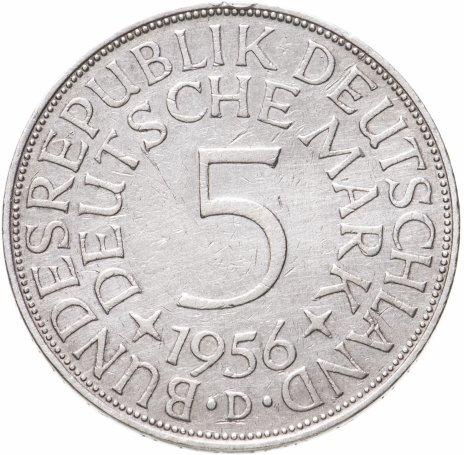 """купить Германия, ФРГ, 5марок 1956 знак монетного двора: """"D"""" - Мюнхен"""