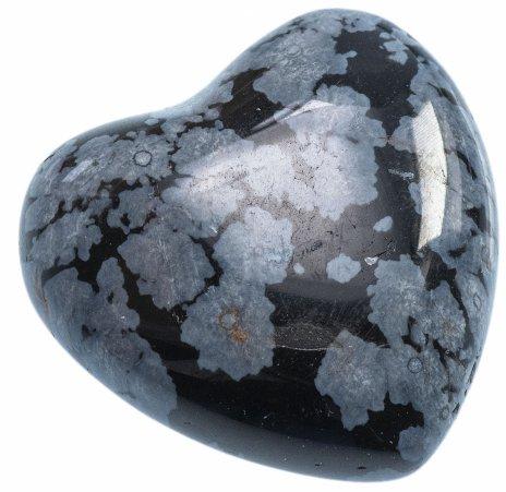 купить Сердце из снежного обсидиана (США), 2,5х2,5х1,2
