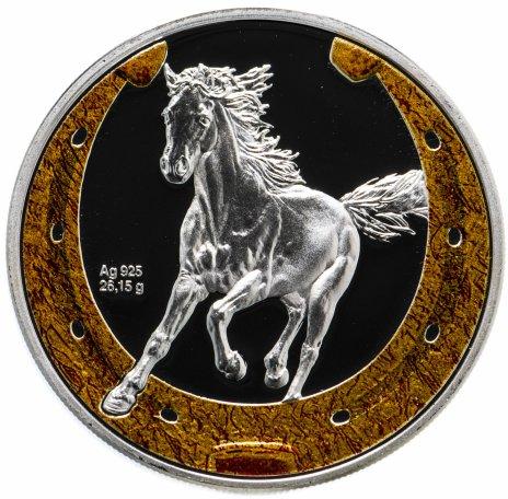 """купить Ниуэ 1 доллар 2014 """"Китайский гороскоп - Год лошади"""" в футляре, с сертификатом"""