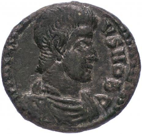купить Римская Империя Констанций II 324–361 гг фракция фоллиса (реверс: воин поражает копьем всадника)