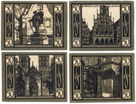 купить Германия (Вестфалия: Мюнстер) набор из 4-х нотгельдов 1921 (916.1/В1)