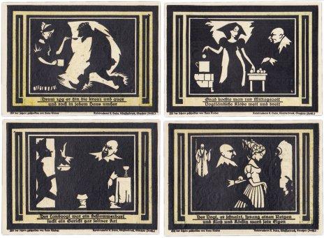 купить Германия (Саксония: Глаухау) набор из 4-х нотгельдов 1921  (436.1М/B1)