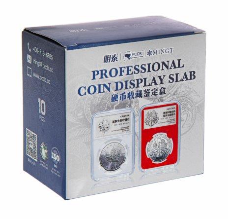 купить Капсула -слаб для монет 24,0 мм (59мм*85мм). В упаковке 10 штук.