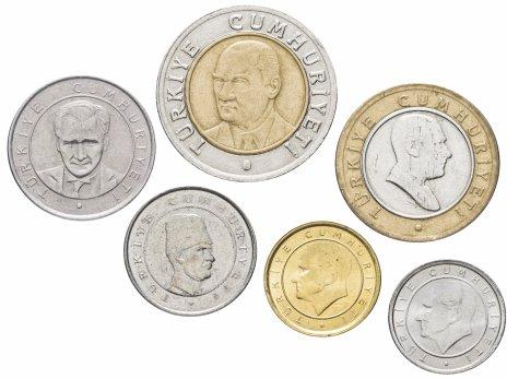 купить Турция набор монет 2005-2008 (6 штук)