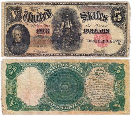 купить США 5 долларов 1907 Series 1907 (Pick 186) Speelman-White