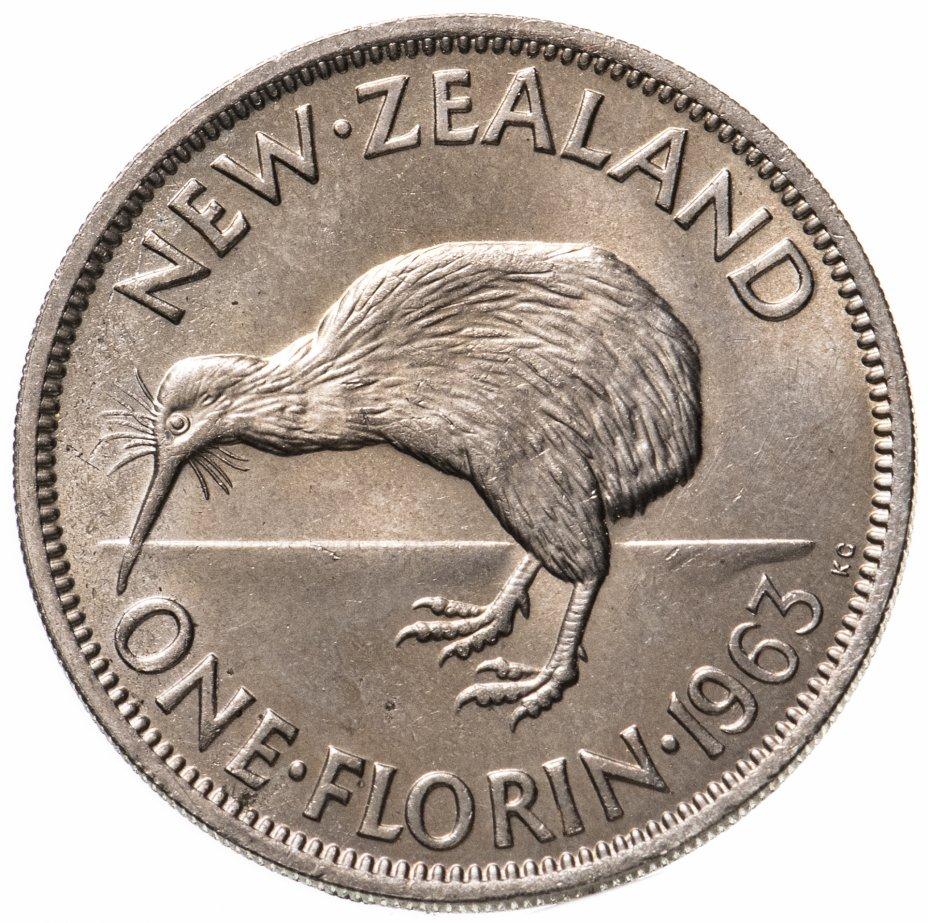 купить Новая Зеландия 2 шиллинга (florin, shillings) 1963